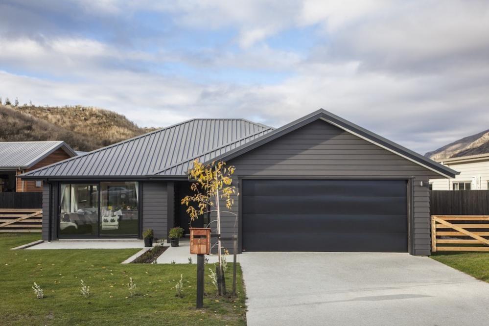 Exterior Shot Grey Cladding Family Home Plans Inspiration