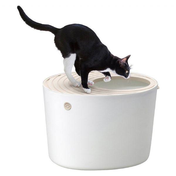 Iris Open Top Litter Box 53cm Width On Sale Litter Box Cat Toilet Cat Litter Box