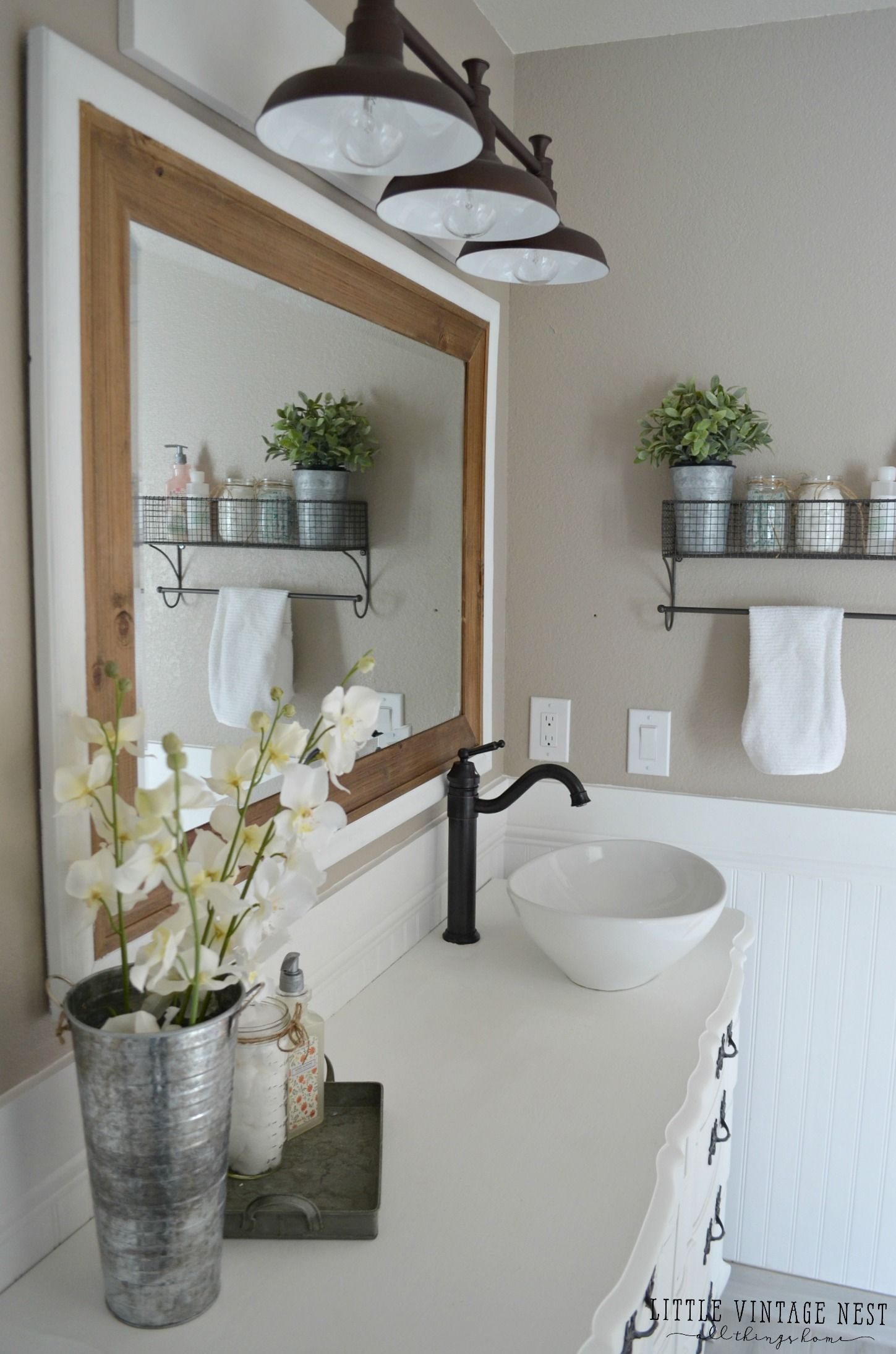 Farmhouse Master Bathroom Reveal Master Bathrooms Bathroom And - Apron sink bathroom vanity for bathroom decor ideas