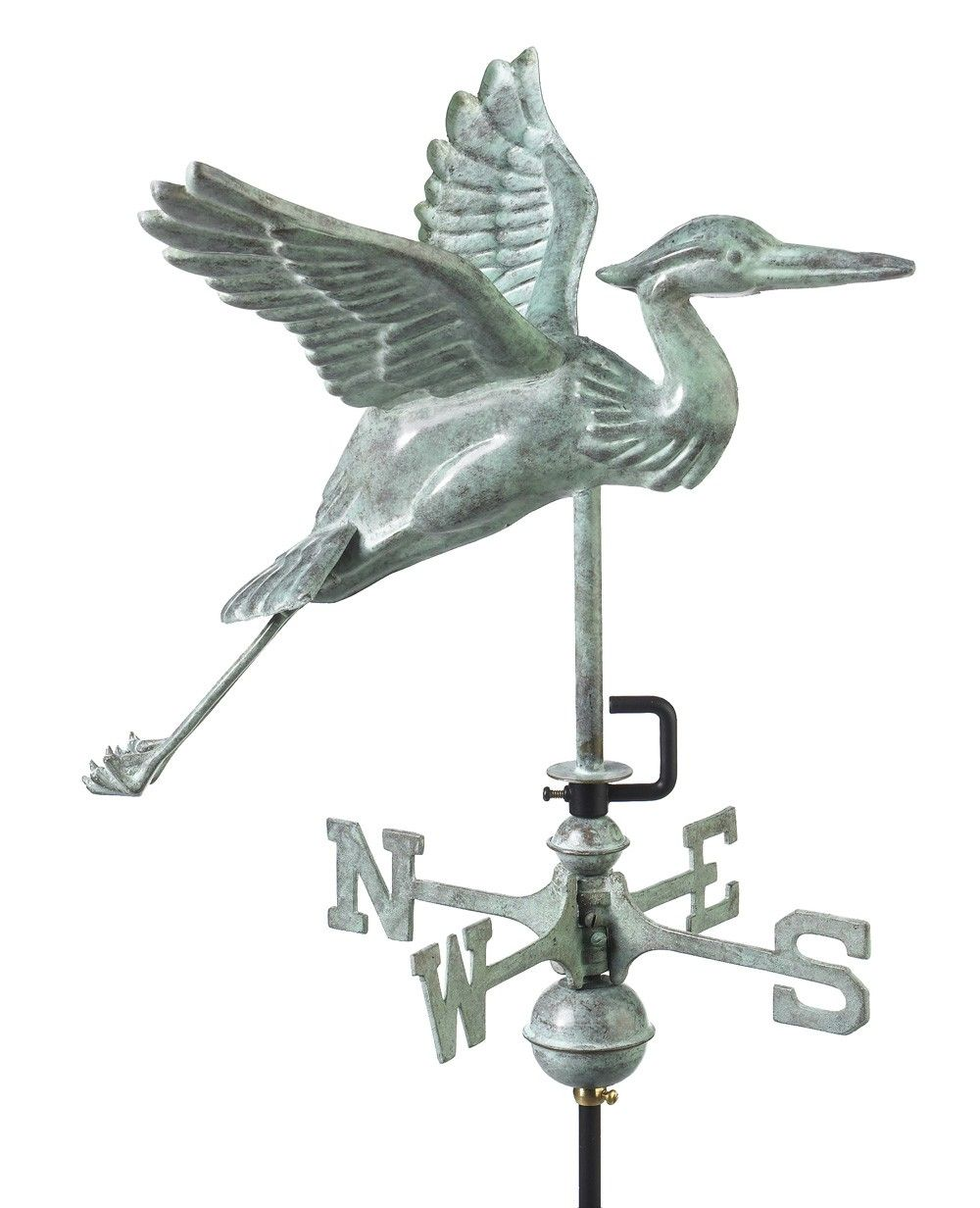 Blue Heron Garden Weathervane  - Good Directions