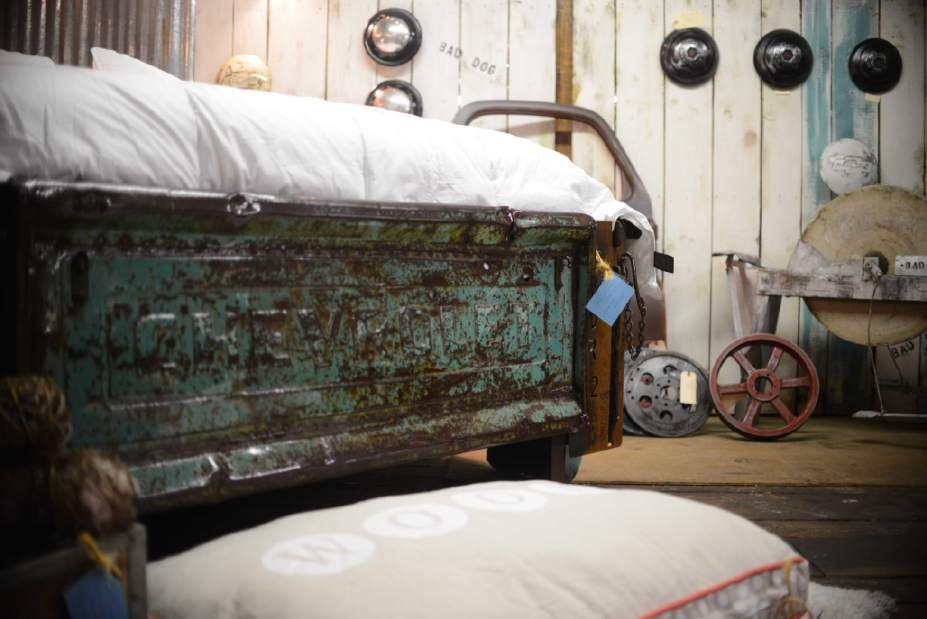 A 1956 Chevrolet Truck Bed Converted To A Queen Size Bed
