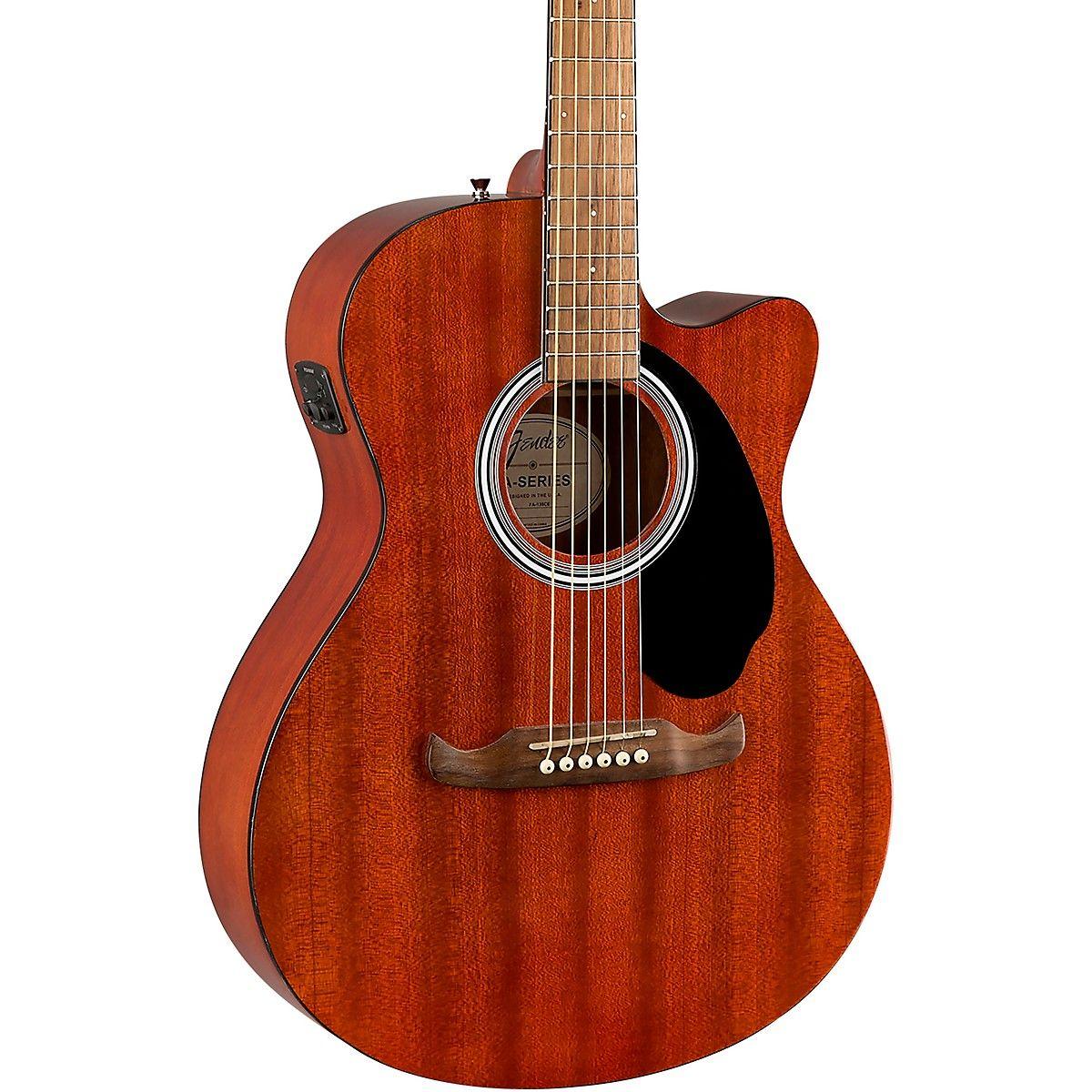 Fender Fa 135ce All Mahogany Concert Acoustic Electric Guitar Acoustic Electric Acoustic Electric Guitar Guitar