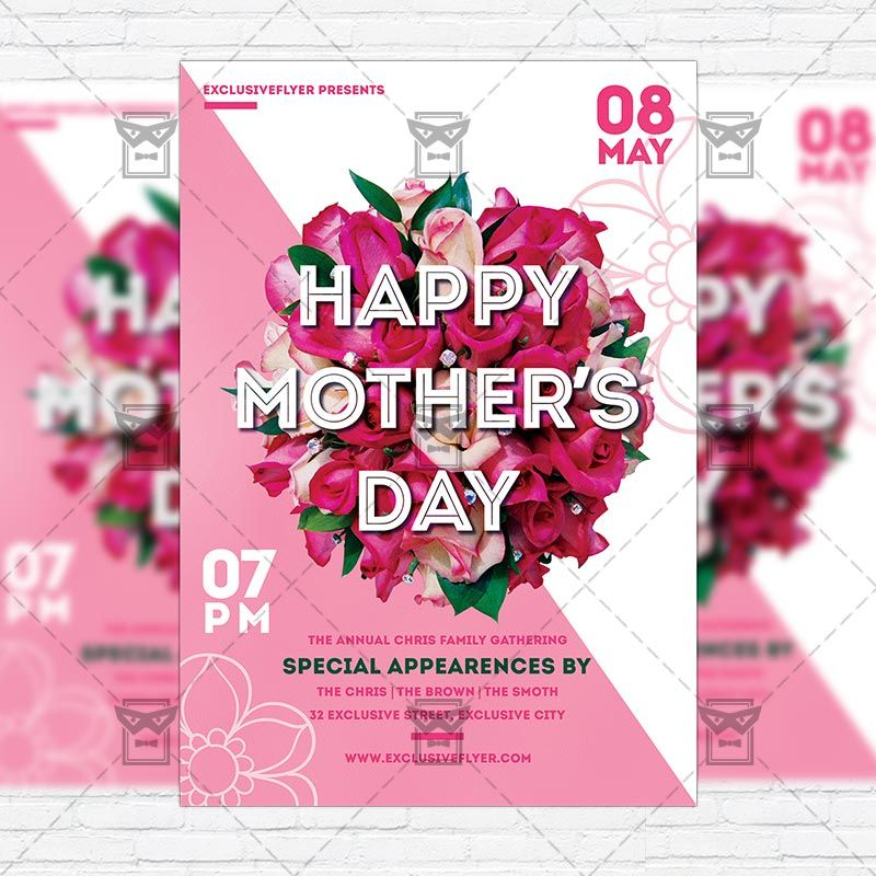 Motheru0027s Day   Premium Flyer Template + Instagram Size Flyer Http://www.
