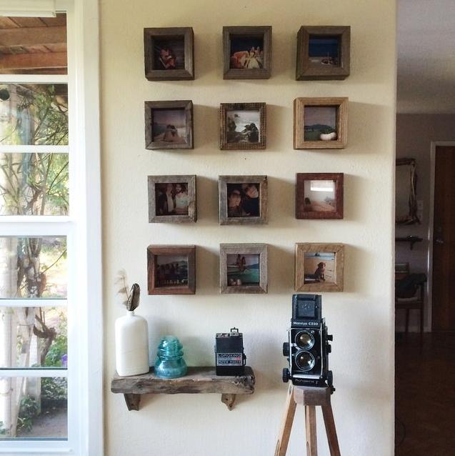 Reclaimed Wood Photo Squares Wood Shadow Box Wood Home Decor