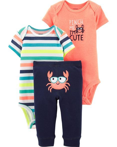 cc4fbc1f4 3-Piece Neon Crab Little Character Set in 2019 | Products | Carters ...