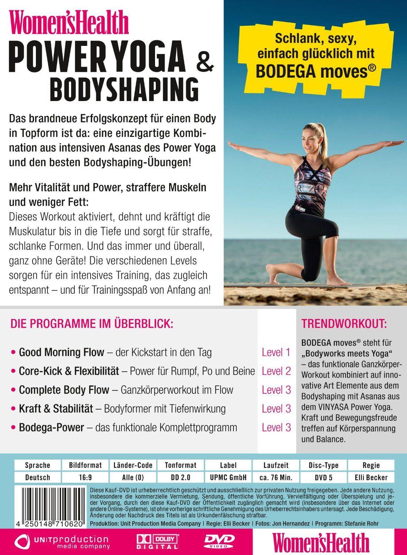 Women's Health - Power Yoga & Bodyshaping: Amazon.de: Stefanie Rohr, Elli Becker: DVD & Blu-ray