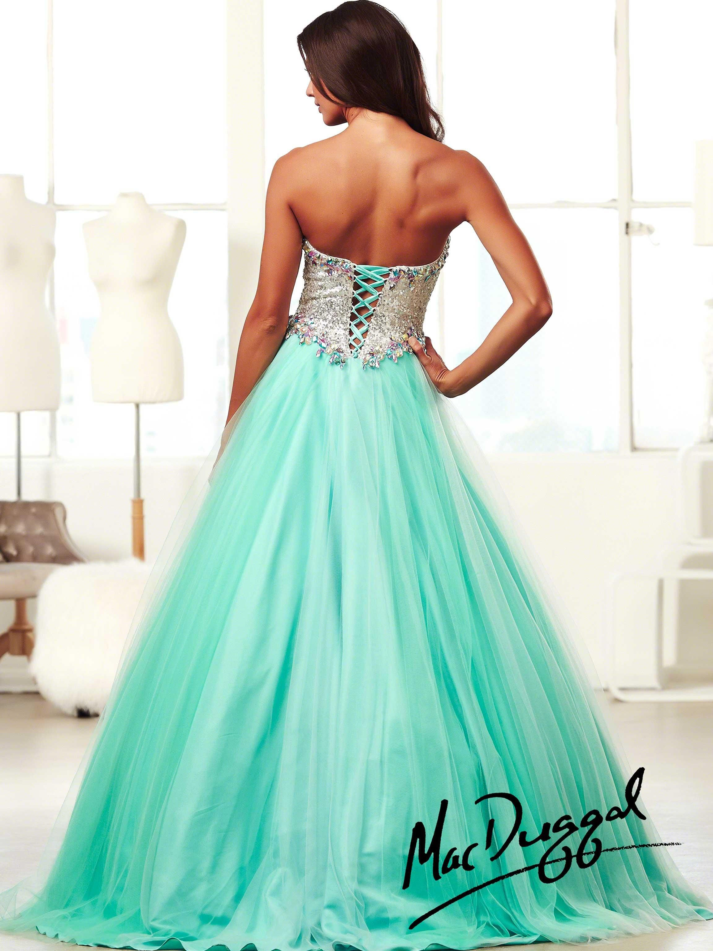 el vestido de graduación de color azul sin mangas | Mujer, vestido ...