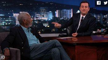 Jimmy Kimmel tosses out random questions to Morgan Freeman.