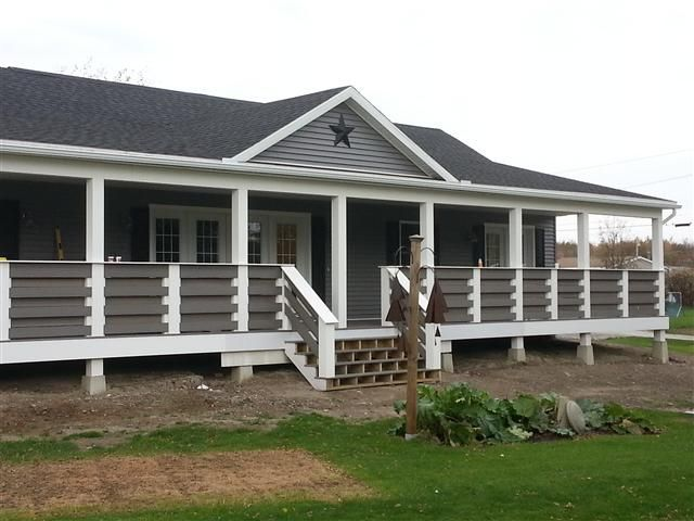 Ranch With Composite Front Porch Mobile Home Porch Manufactured