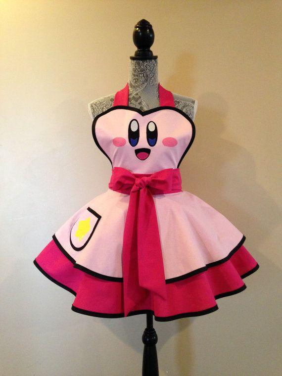 Retro apron - costume apron - womens apron - cosplay ...