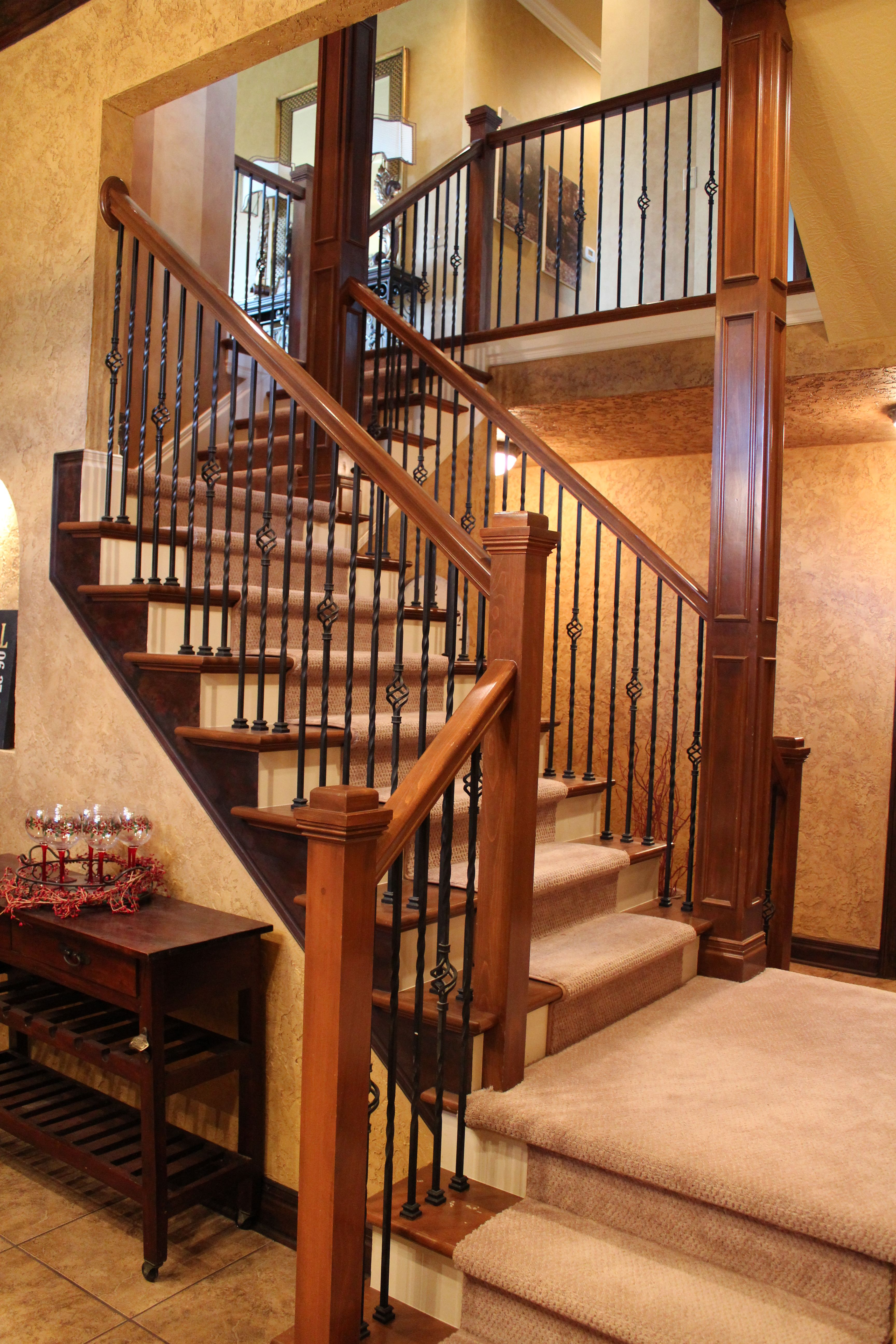 Best Iron Wood Stair Railing By J S Brown Co Jsbrownco 640 x 480