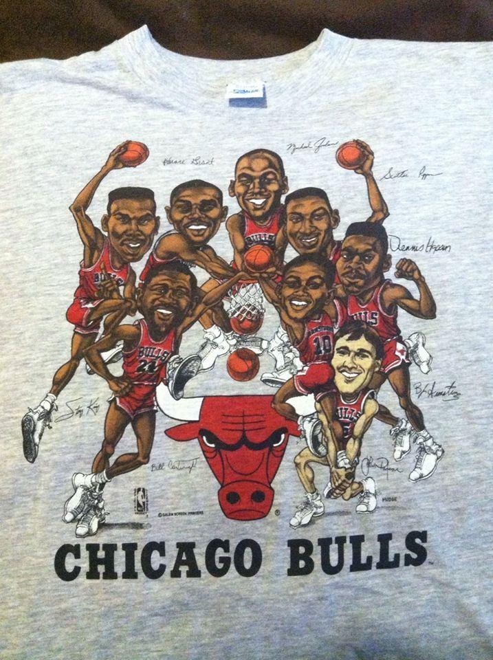 dcc58e54fad Chicago Bulls Vintage T-Shirt Michael Jordan Pippen Early 90's Salem  Sportswear