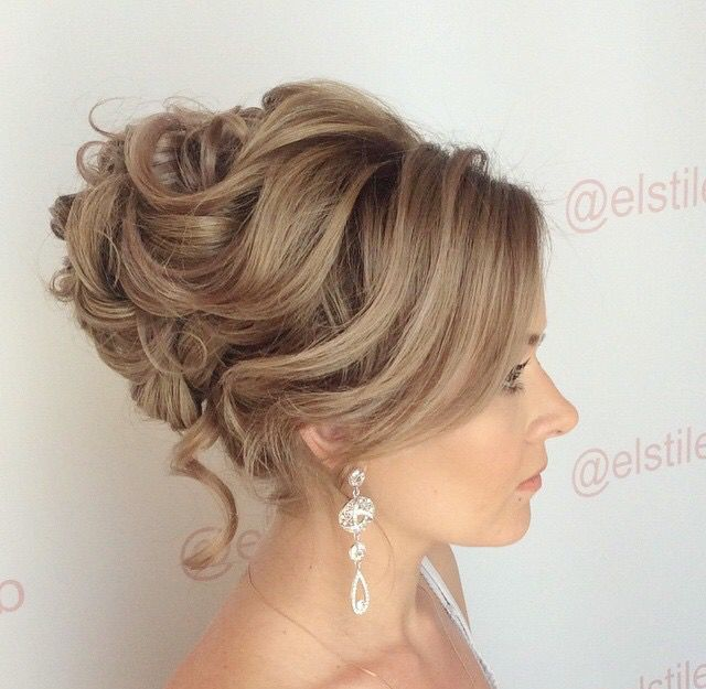 Soft Romantic Curls In A Half Up Style: Soft Romantic Updo, Loose Curls, Wedding Updos, Wedding