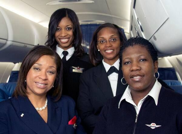 Brown Girl Collective 2 hrs ·  Brown Girl Herstory: On February 12, 2009, Atlantic Southeast created aviation history by having the first all female African American crew in United States history. Flight 5202 departed Hartsfield–Jackson Atlanta International en route to Nashville International with Captain Rachelle Jones and First Officer Stephanie Grant at the controls, and Flight Attendants Diana Galloway and Robin Rogers taking care of the passengers' needs.