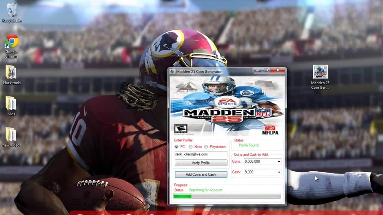 Madden NFL 25 Hack Tool unlimited coin new 2014