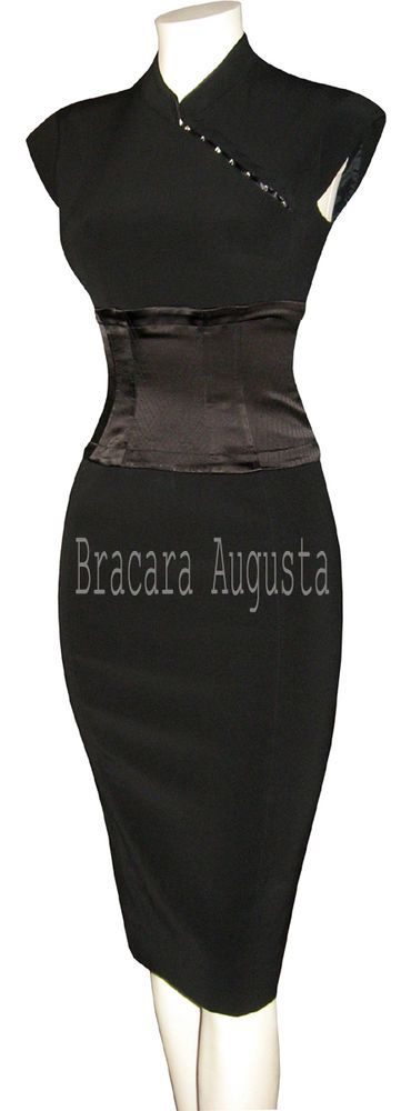 Karen Millen Oriental Corset Black Very Rare Dress 8 Bnwt