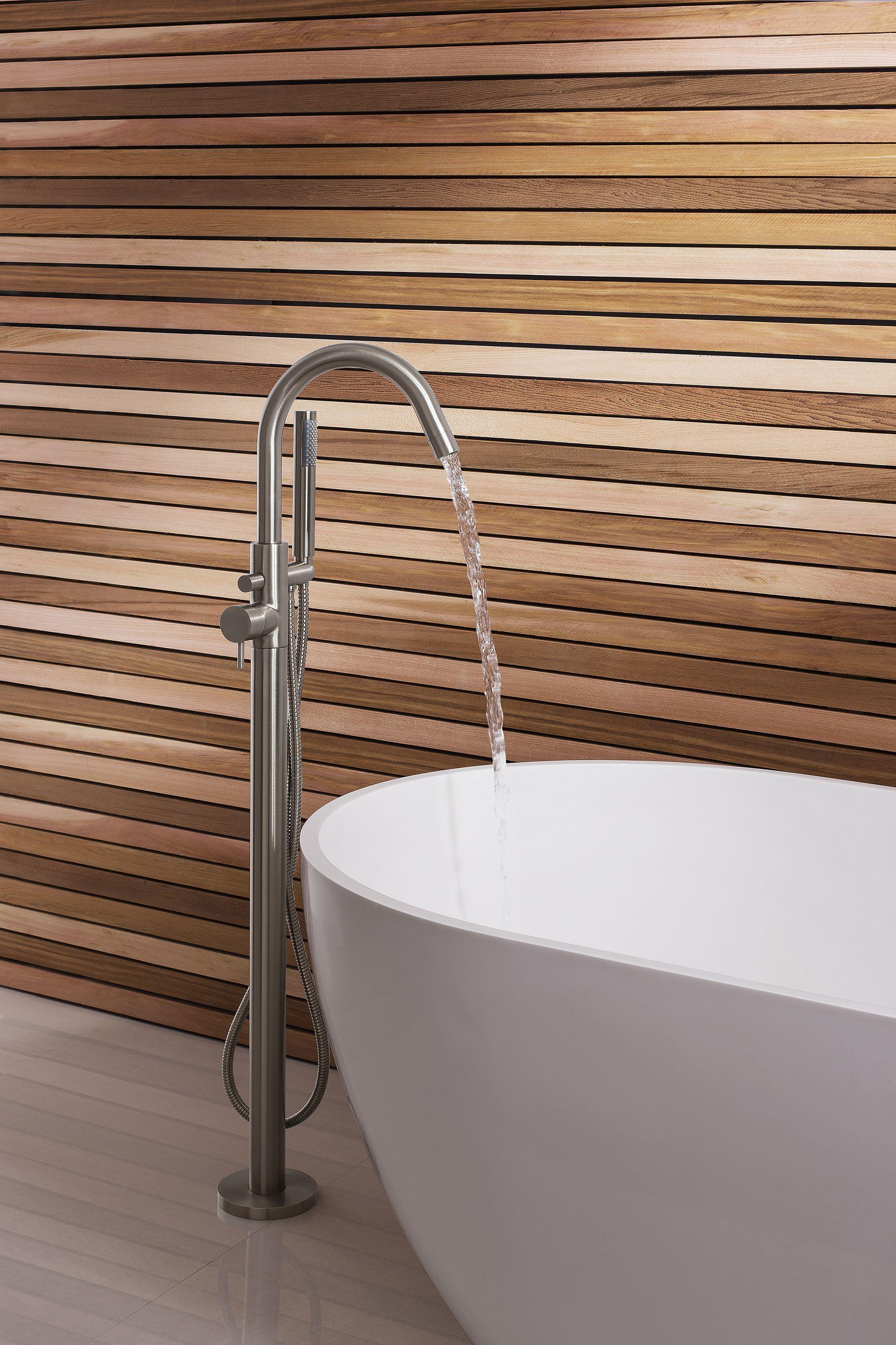 Make a bathroom statement alongside a freestanding bath with the ...