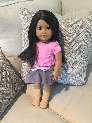 American Girl Truly Me Doll Tan Medium Skin Dark Brown Hair Brown