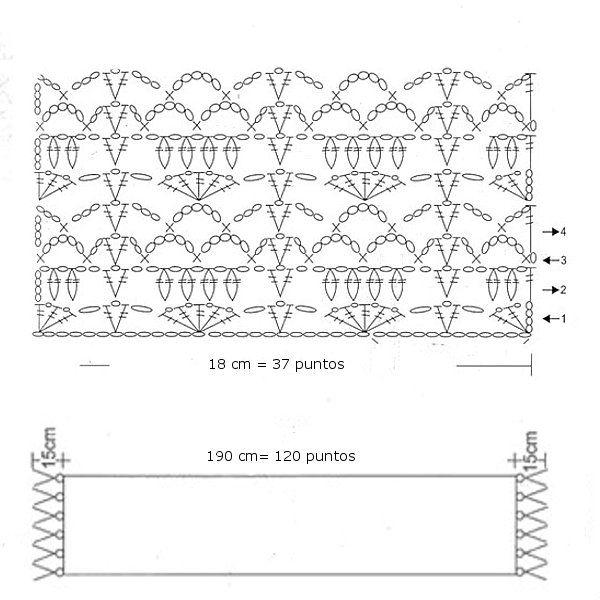 BUFANDAS A GANCHILLO: Cinco patrones gratis | Crochet | Pinterest ...
