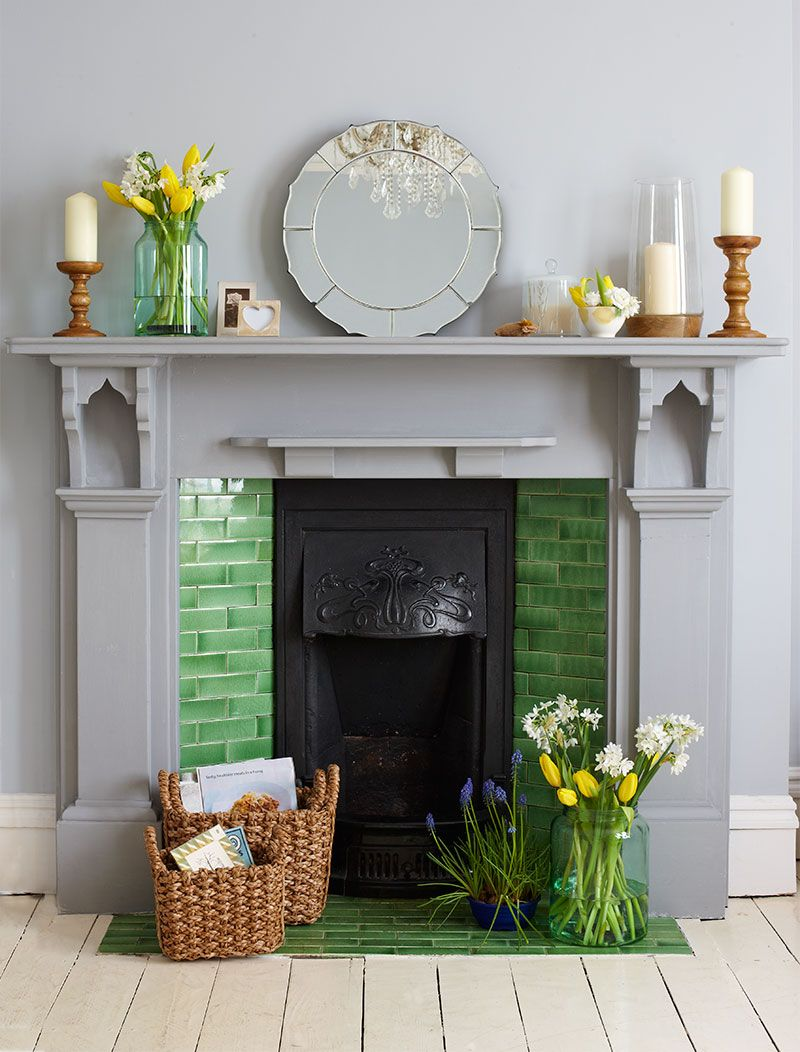 Creative ways to decorate a non working fireplace rock - Decorate non working fireplace ...