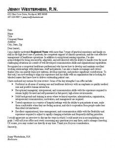 registered nurse cover letter templates