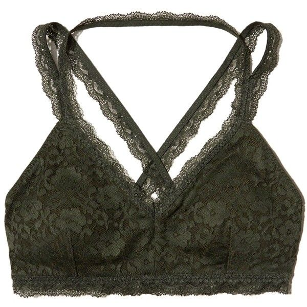 a489079d15f6d Hollister Strappy Lace Bralette With Removable Pads ( 17) ❤ liked on Polyvore  featuring intimates