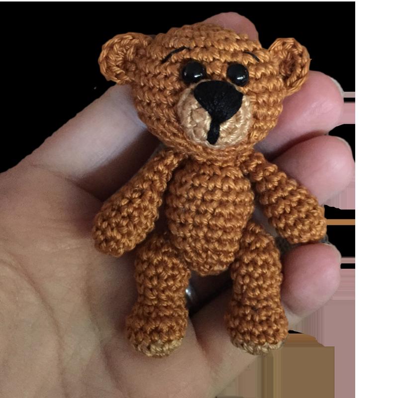 Mini Teddy Häckelnauf Der Seite Gibt Es Die Kostenlose