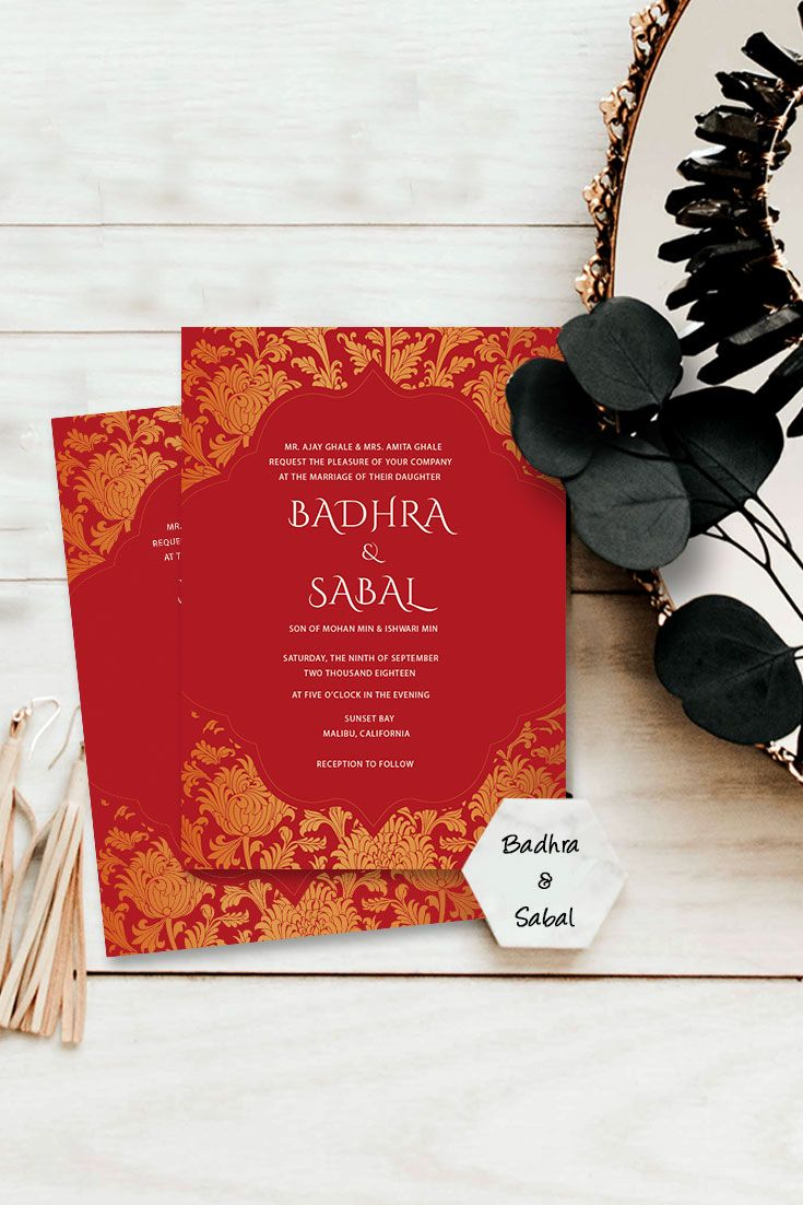 Create your Indian wedding invitations online with Photojaanic ...