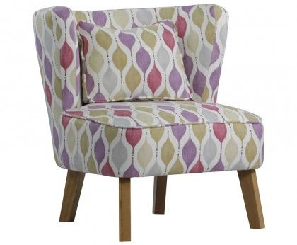 picardi blush pink funky fabric chair home ideas pinterest