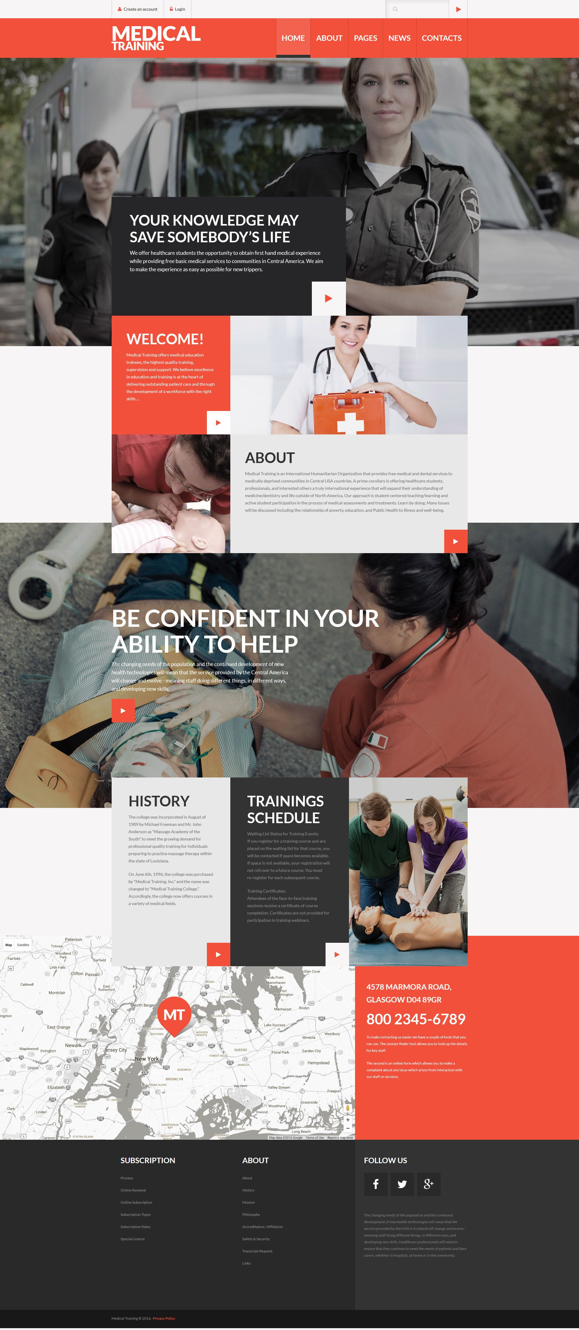 Medical Training Joomla Template | Template, Mobile ui design and ...