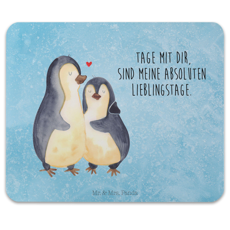 Mauspad Druck Pinguin umarmend aus Naturkautschuk  black - Das Original von Mr. & Mrs. Panda.  Ein wunderschönes Mouse Pad der Marke Mr. & Mrs. Panda. Alle Motive werden liebevoll gestaltet und in unserer Manufaktur in Norddeutschland per Hand auf die Mouse Pads aufgebracht.    Über unser Motiv Pinguin umarmend  Unsere Pinguin-Kollektion ist unser kleines Herzstück. Jeder liebt diese watschelnden Freunde. Vor allem, wenn sie so niedlich aussehen... Das Motiv ist, wie alle anderen Tiere, von Mrs.