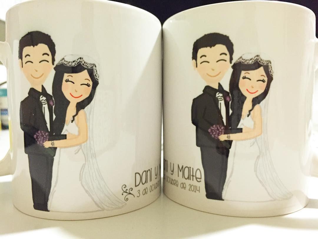 Hay aniversarios de bodas bonitos y románticos y después están estos  Tazas que sorprenden y son un recuerdo único que ese día...  Pide las tuyas en http://ift.tt/1n71PmC  #boda #regalo #aniversario #daniymaite #virusdlafelicidad #unico #personalizado #especial