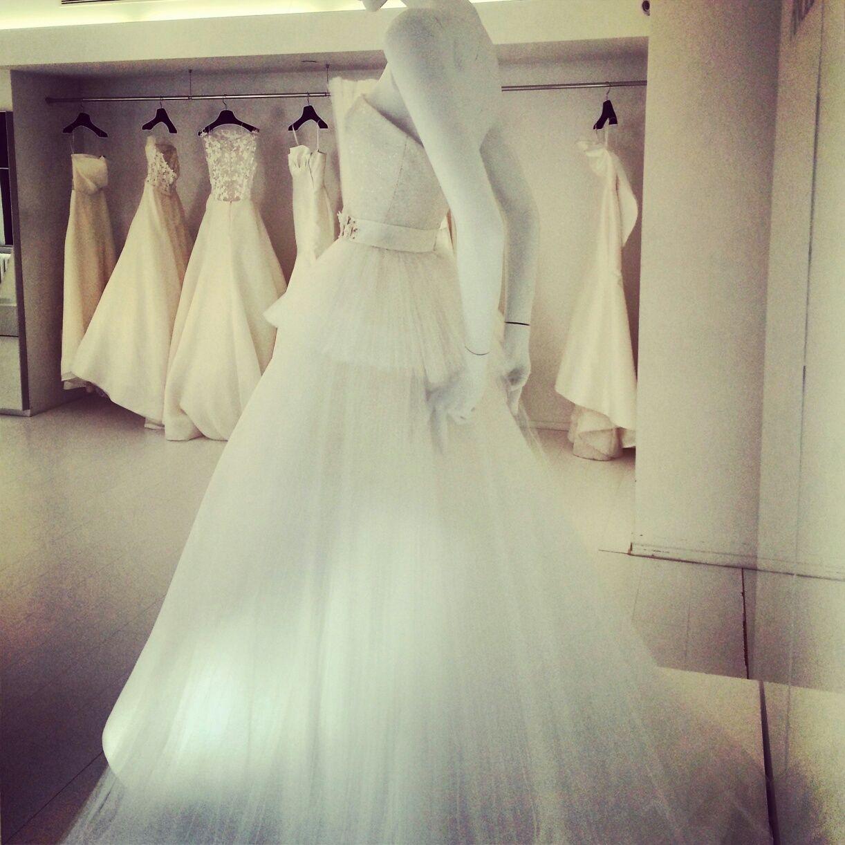 Angel Sanchez wedding dresses, fall 2014 collection. Photo: Charanna K. Alexander/The New York Times.