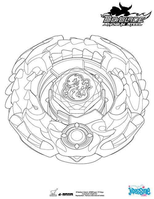 coloriage beyblade salamander - Beyblade Metal Fury Coloring Pages