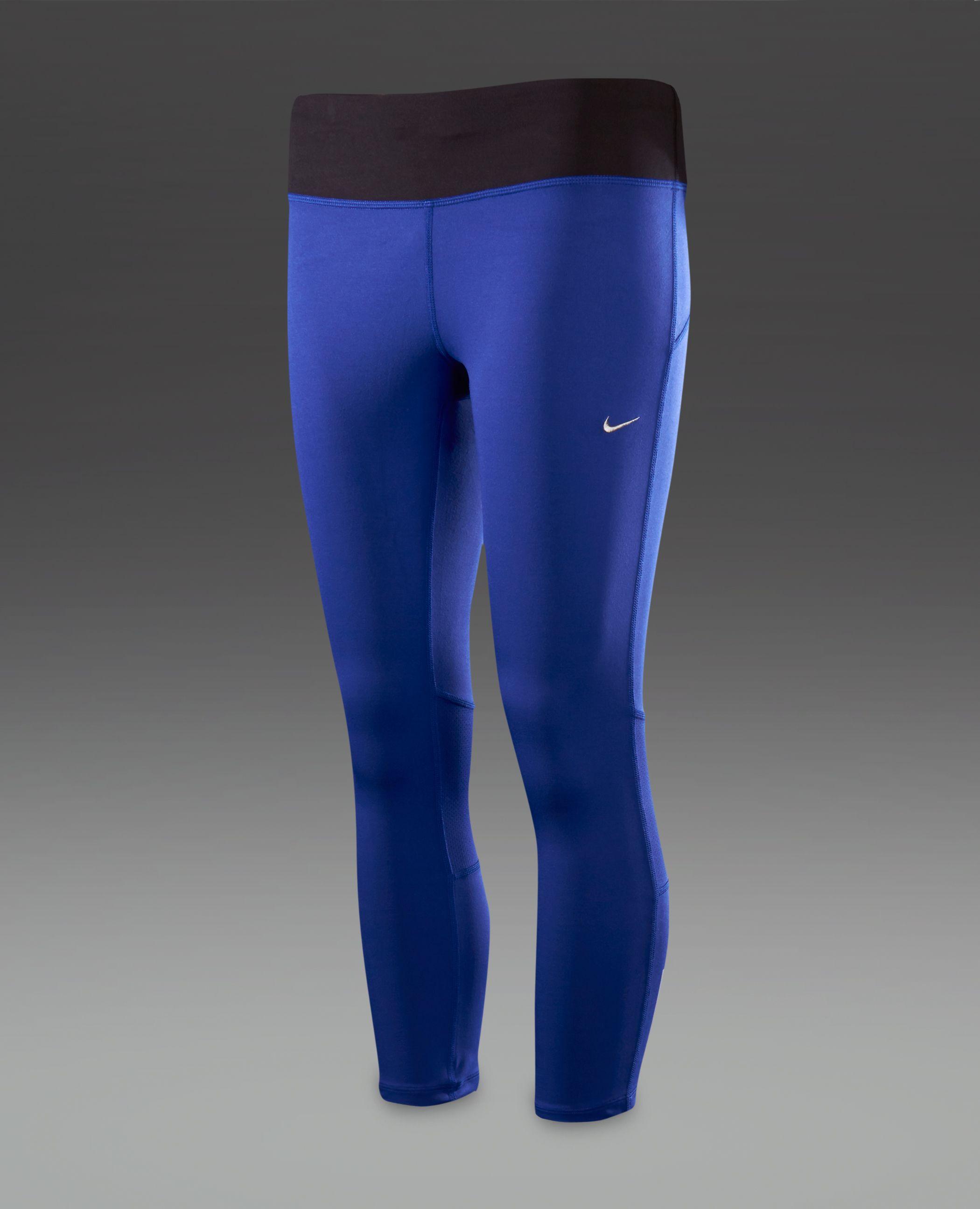 80e4d5ac62a81 Deep night/black/silver mid-rise Nike Epic Run cropped running tights.