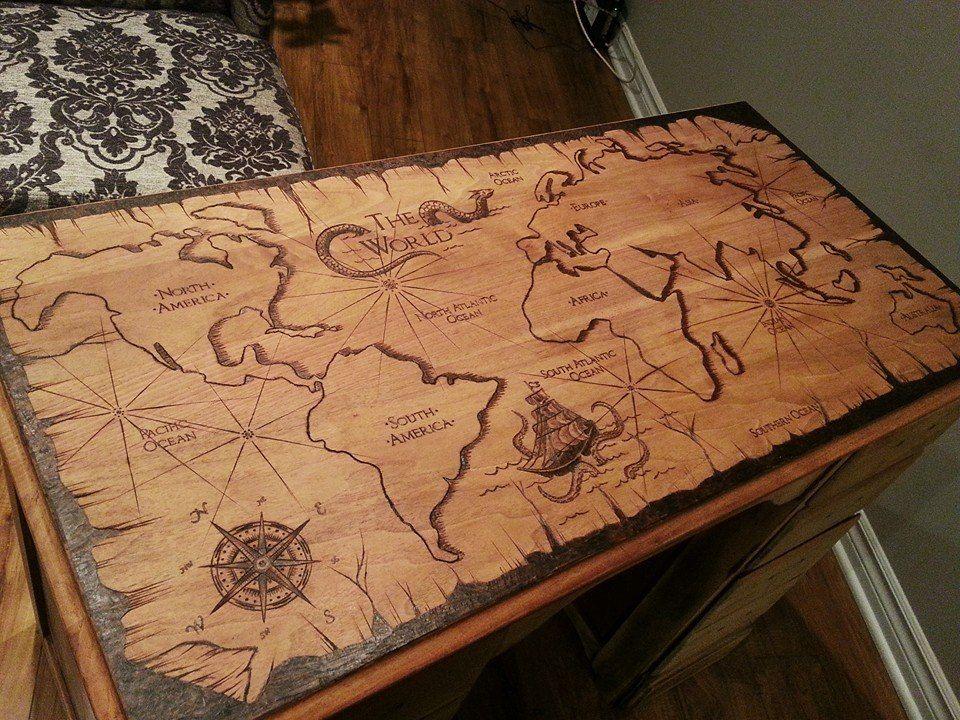 Wood Burned Desk For When I Feel Creative Wood