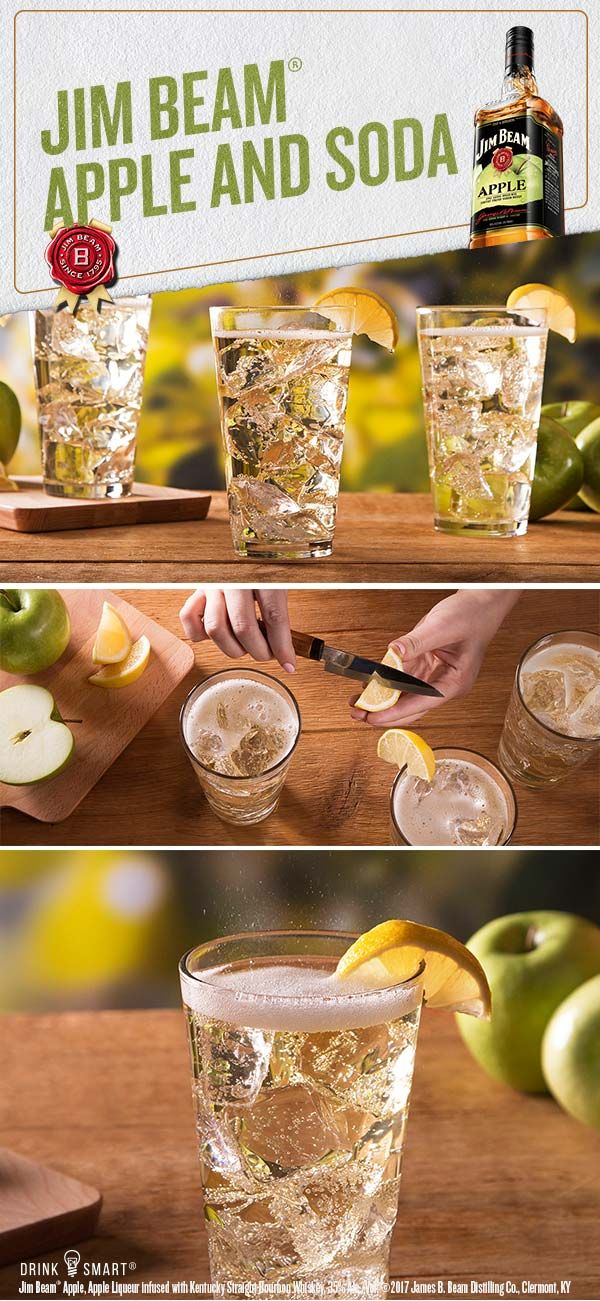 Jim Beam Apple Soda Recipe Drinkies Bourbon Drinks Cocktail Drinks Cocktails
