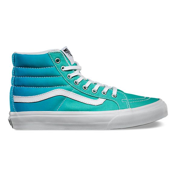 5d20ad2f34 NEW Vans Ombre Sk8-Hi Slim - blue green teal