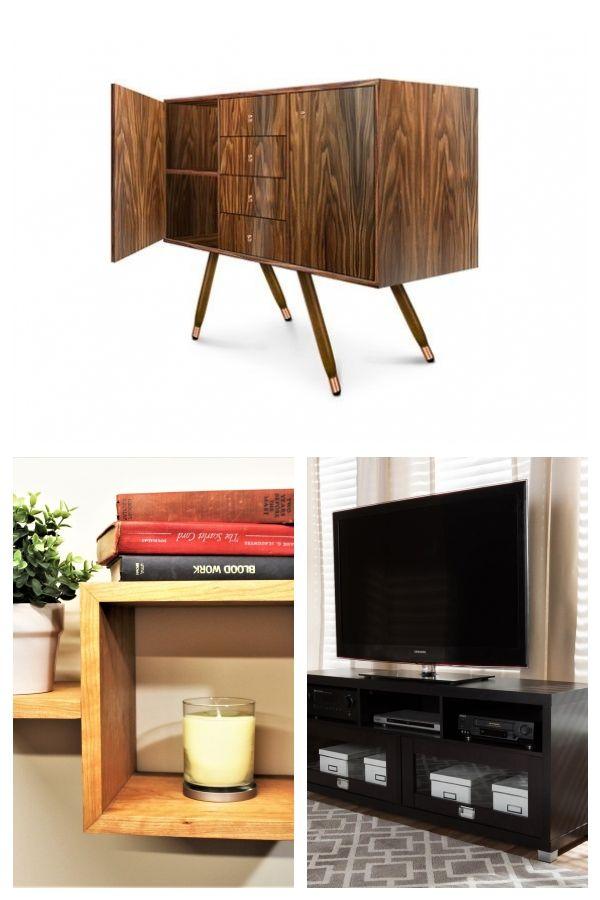 Modern walnut buffet Midcentury modern sideboard Walnut cabinet Walnut storage Modern TV unit B