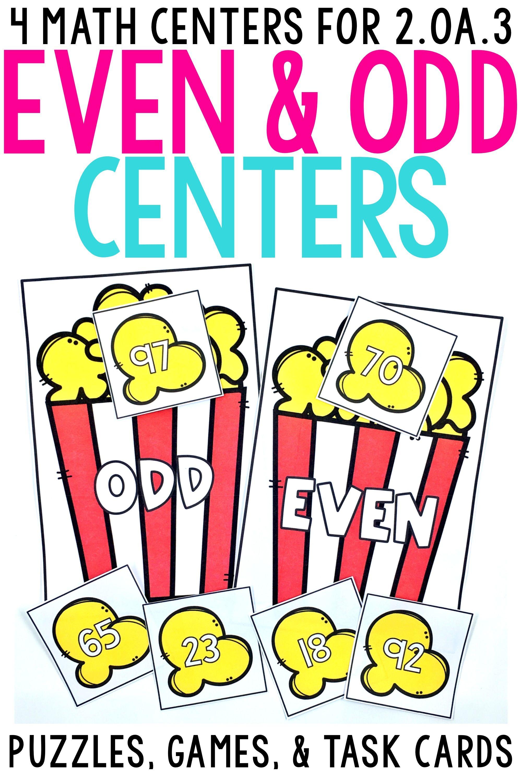 2nd Grade Even \u0026 Odd Math Centers for 2.OA.3   Math centers [ 3000 x 2000 Pixel ]