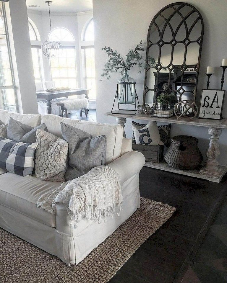 55+ Comfy Modern Farmhouse Living Room Decor Ideas Living Room