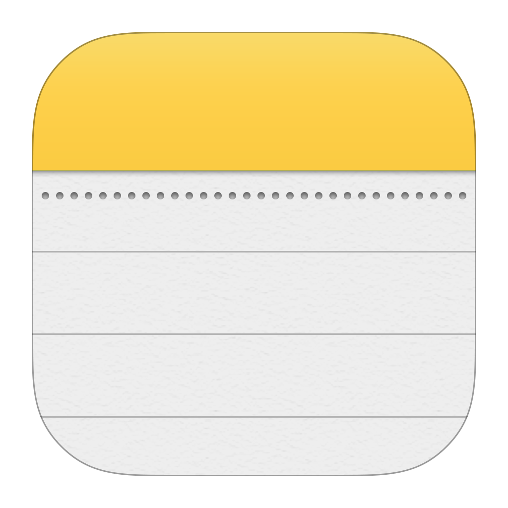 Notes Icon PNG Image App icon design, App logo, Iphone notes