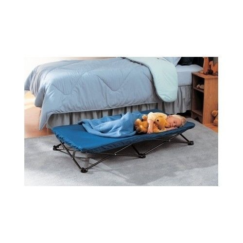 Toddler Cot Portable Folding Baby Child Travel Guest Sleeping Nap Daycare Blue Regalo
