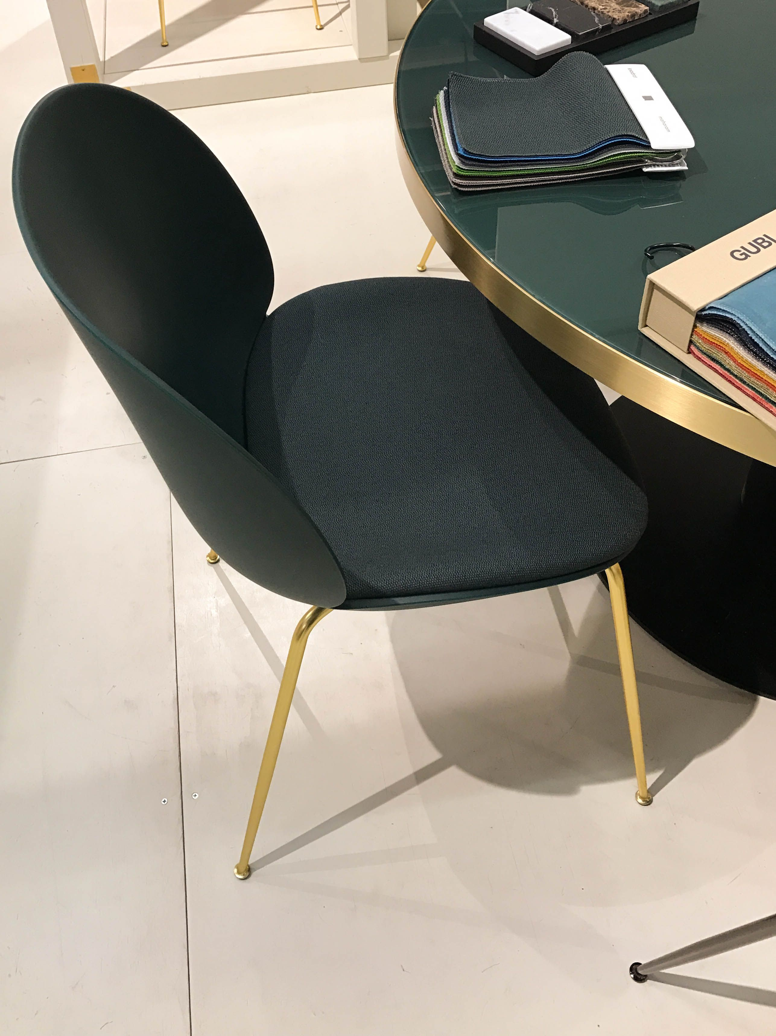 Beetle Chair Plastic Shell And Seat Upholstery By GamFratesi For Gubi