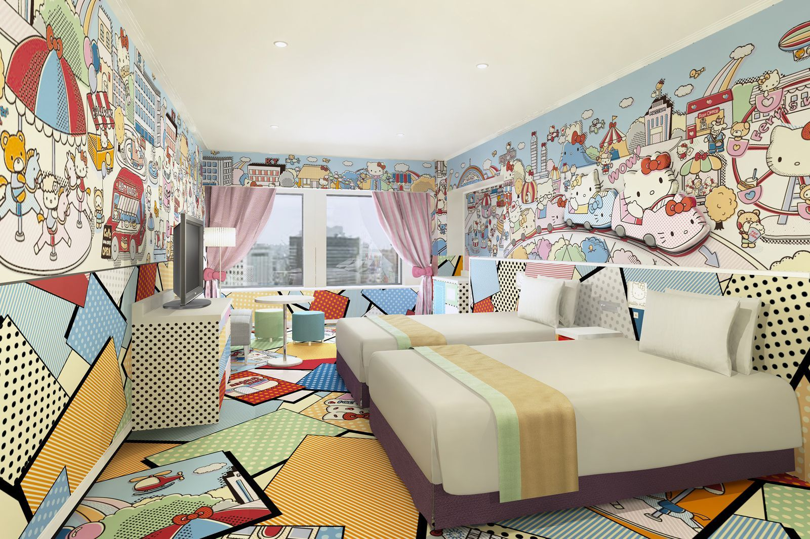 Hello kitty dining room   Quirky and Cool Places To Stay In Tokyo Japan  Karaoke