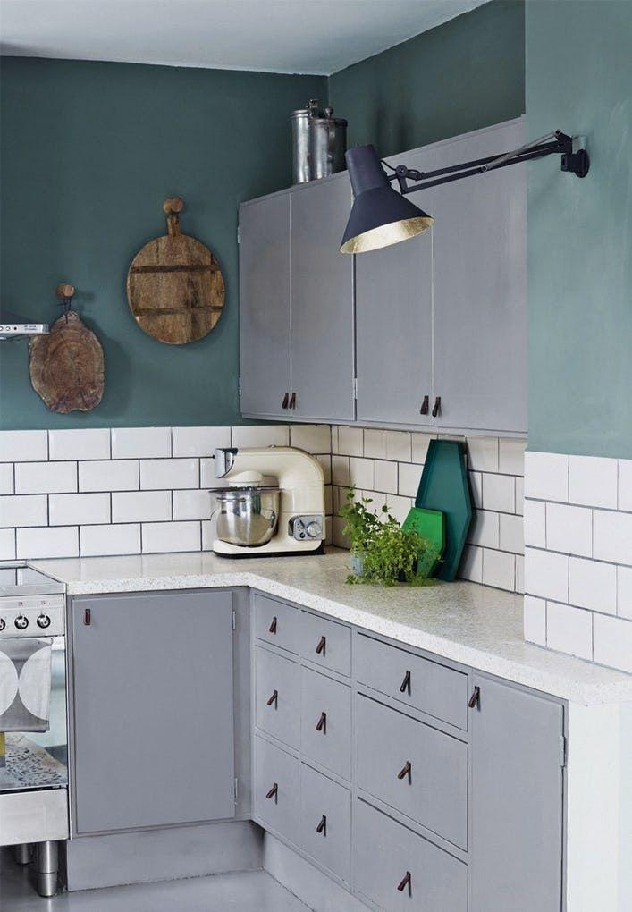 Stylist Eva-Marie Wilken var træt af sit gamle køkken, og gav det ...