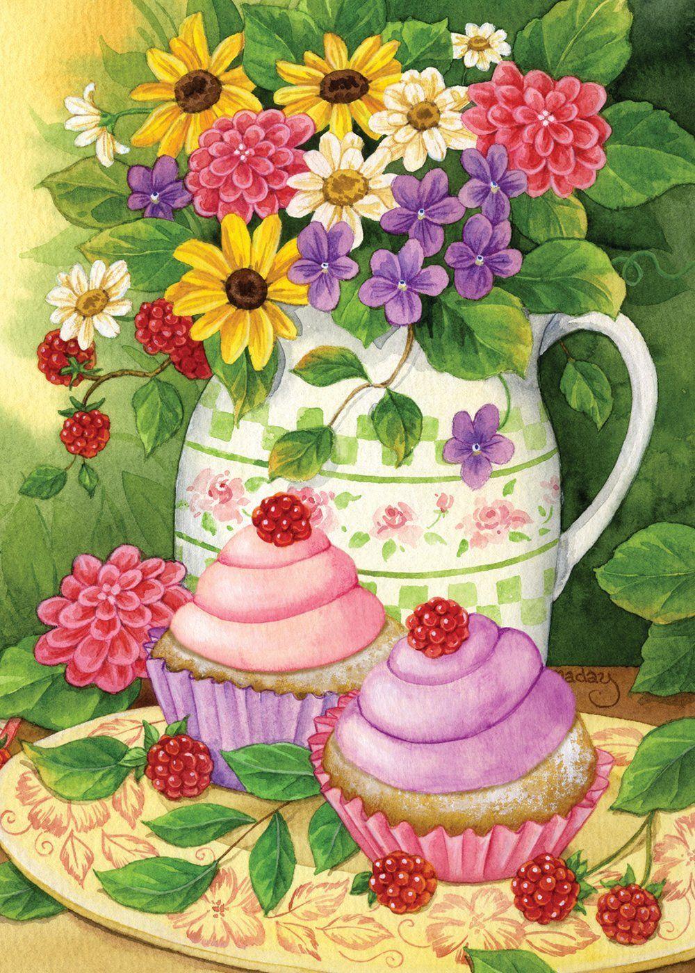 Amazon.com : Toland Home Garden 112562 Garden Cupcakes Decorative ...