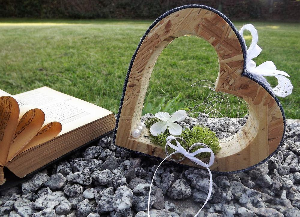 Ringkissen Ringhalter Jeans Herz stehend für Eheringe Hochzeit Liebe ...