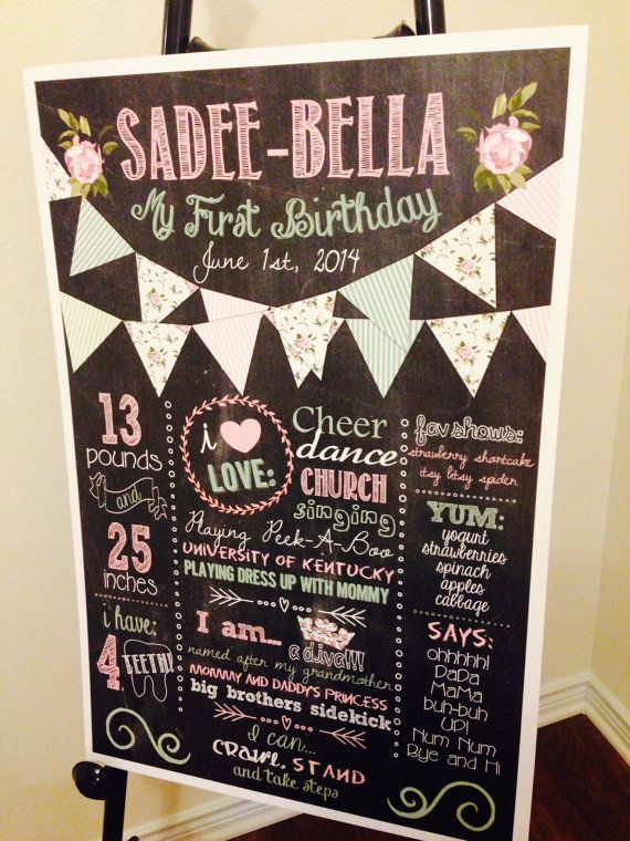 Any Age 1st Birthday Welcome Sign Mint and Gold Welcome Birthday Sign Landscape BS550 Striped Welcome Sign First Birthday Welcome Sign