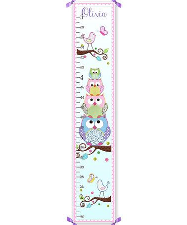 Stacked Owl Personalized Growth Chart Growth Chart Kids Growth Chart Personalized Growth Chart